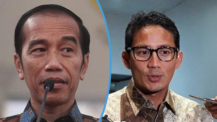 Jokowi dan Sandiaga Uno