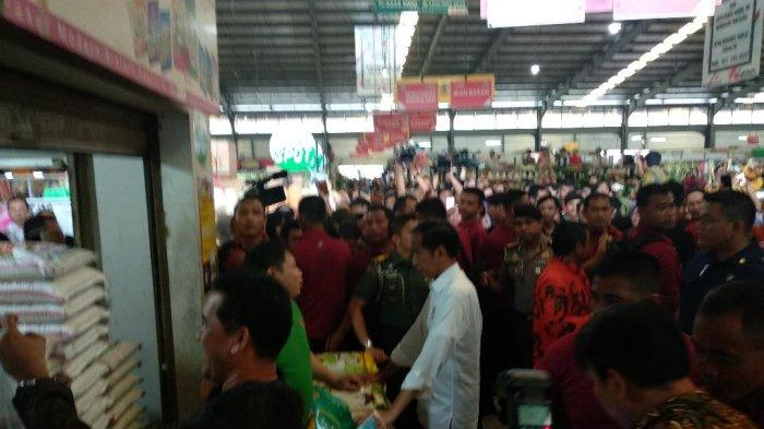 Pagi Hari Blusukan di Pasar Minggu, Siangnya Jokowi ke Pasar Modern Bintaro