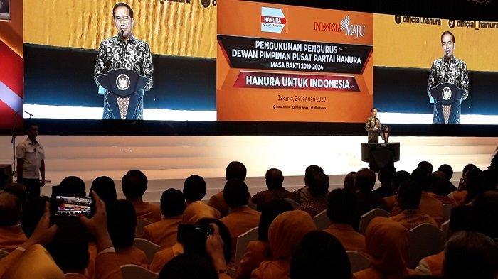 Hadiri Pengukuhan DPP Hanura, Presiden Jokowi Serukan Pilkada 2020 Tanpa Politik SARA dan Hoaks