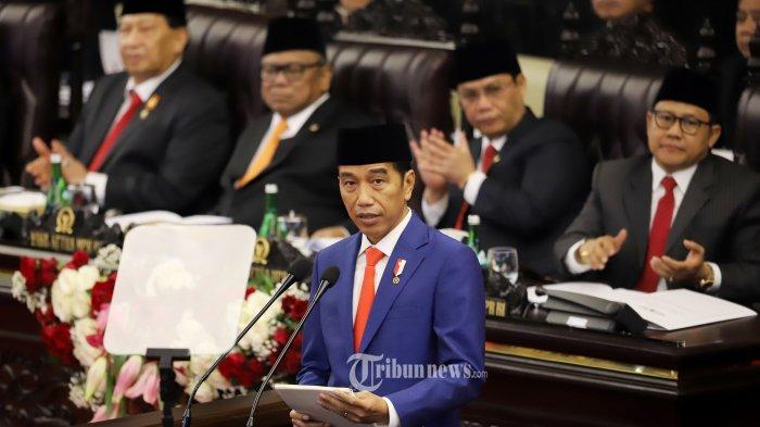 Sidang Tahunan MPR 2019, Nada Bicara Jokowi Meninggi Saat Singgung Regulasi Ruwet : Harus Dipangkas!