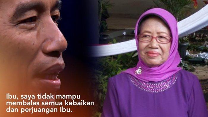 Presiden RI Joko Widodo atau Jokowi, mengunggah video ucapan Hari Ibu untuk sang Ibunda, Sudjiatmi, di akun media sosialnya, Sabtu (22/12/2018).