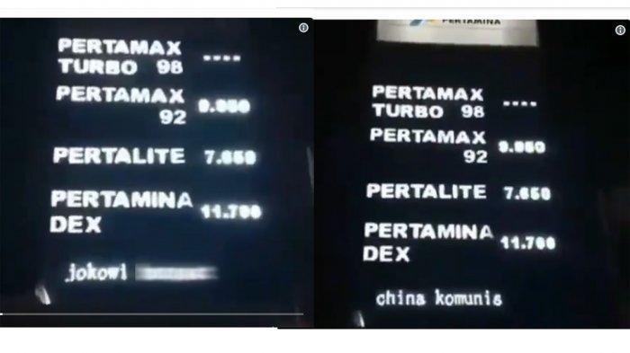 Heboh di Medsos, Running Text SPBU di Medan Hina Jokowi dan Megawati, Kalimatnya Sangat Kasar