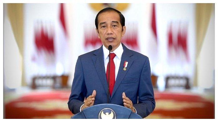 Presiden Joko Widodo (Jokowi) saat membuka Konferensi Forum Rektor Indonesia (FRI) 2021, Selasa (27/7/2021).