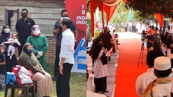 Cerita Warga Aceh Ketemu Jokowi, Merasa Seperti Mimpi hingga Santriwati Beri Hadiah untuk Presiden