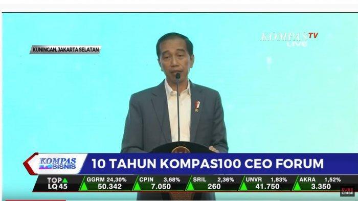 Presiden Jokowi dalam pidato kuncinya di Kompas 100 CEO Forum membeberkan target pemerintahannya selama 5 tahun ke depan.