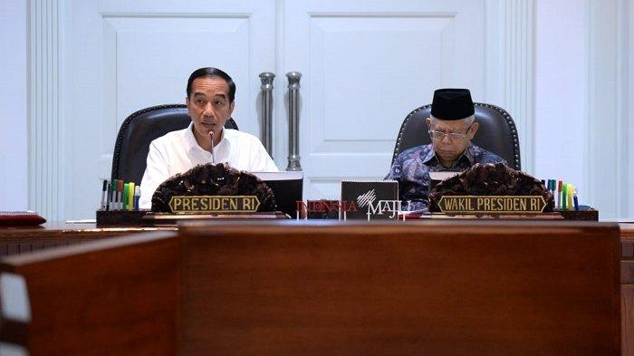 Presiden Joko Widodo memimpin rapat terbatas ke II bersama sejumlah menteri dan kepala lembaga kabinet Indonesia Bersatu di Kantor Presiden, Jakarta, Rabu, (12/2/2020)