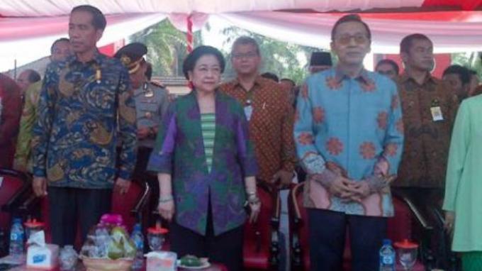 Jokowi, Megawati, dan Boediono Hadiri Peringatan Hari Lahir Pancasila di Blitar