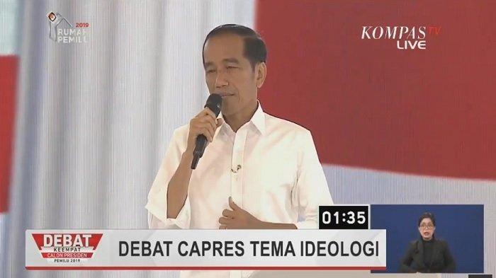 Jokowi Bongkar Tempat Simpan Pesawat  Saat Debat Capres, BPN Minta Maklumi Sang Presiden