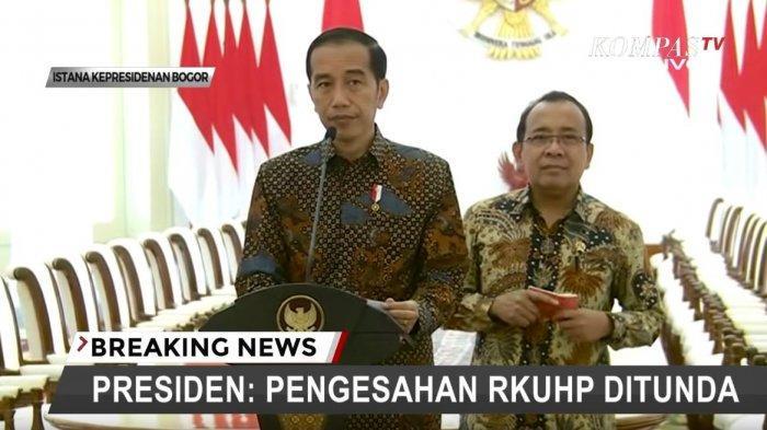 Jokowi Minta Pengesahan RKUHP Ditunda dan Tidak Dilakukan oleh DRP Periode Ini