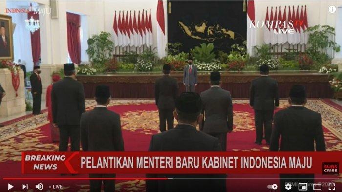 Jokowi resmi lantik 6 menteri baru, Rabu (23/12/2020).