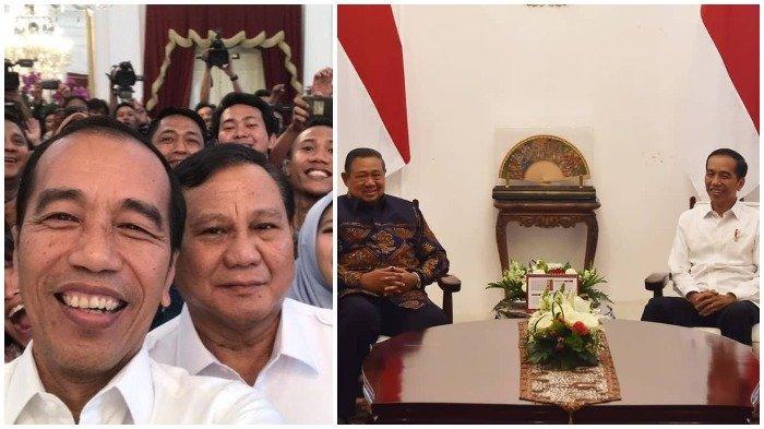 Beda Reaksi Jokowi Setelah Bertemu dengan SBY dan Prabowo Jelang Pelantikan Presiden