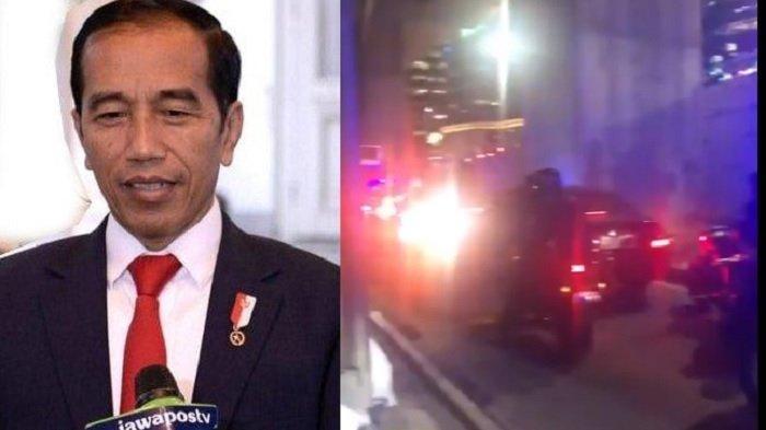 Jokowi terjebak macet