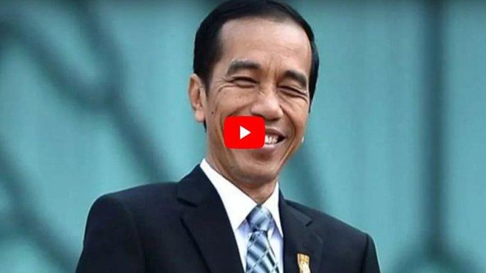 Jokowi Tertawa saat Ditanya Terkait Pidato Prabowo Sebut Indonesia Bubar 2030