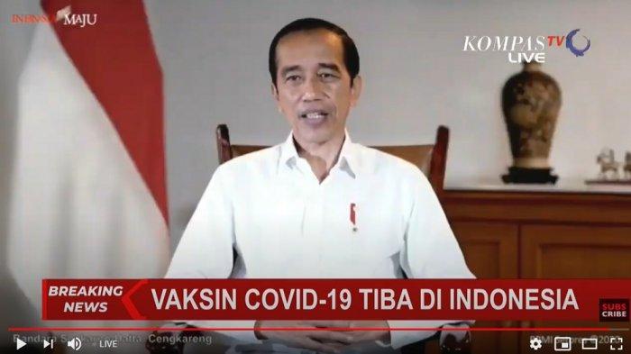 Jokowi umumkan datangnya 1,2 juta vaksin Covid-19 dari Sinovac, Minggu (6/12/2020) -