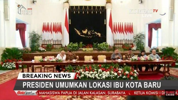 Suasana Istana Presiden jelang pengumuman lokasi ibukota negara yang baru oleh Presiden Jokowi, Senin 26 Agustus 2019