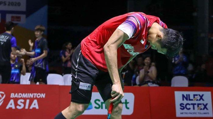 Jonatan Christie mengaku kurang percaya diri saat gagal sumbang poin bagi Indonesia di final Badminton Asia Team Championship 2020, Minggu (16/2/2020)