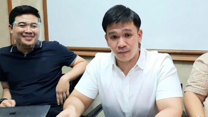 Jordi Onsu ketika ditemui disela-sela jumpa pers kasus 'Geprek Bensu', di kawasan Kuningan, Jakarta Selatan,