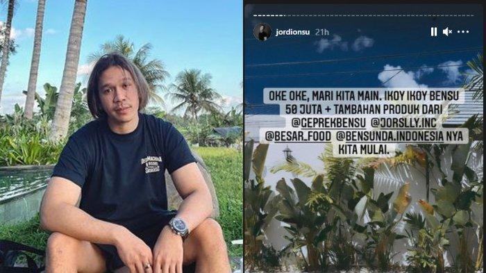 Jordi Onsu juga mengikuti tren Ikoy-ikoyan. Ia membagikan uang total Rp50 juta dan produk bisnis miliknya.
