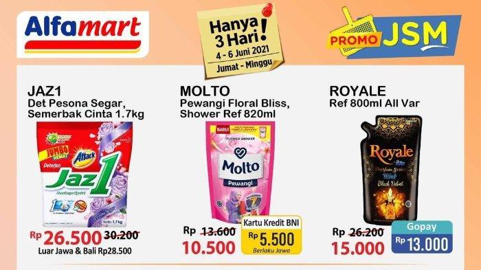 Promo JSM Alfamart Periode 4-6 Juni 2021, Dapatkan Harga Makin Murah dengan ShopeePay hingga GoPay