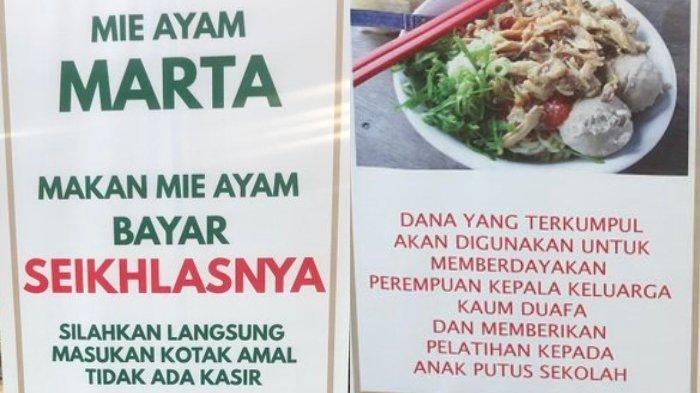 Viral Cuitan Makan Mie Ayam Bayar Seikhlasnya, Pemilik Ajak Orang untuk Makan Sekaligus Beramal
