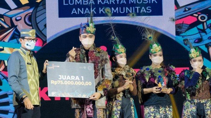 Kemenparekraf Umumkan Pemenang Lomba Karya Musik Anak Komunitas