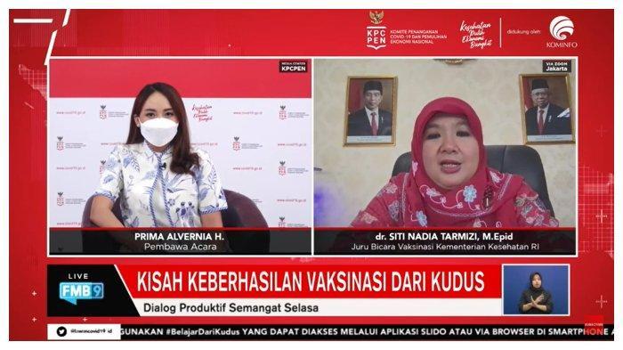 Jubir Vaksinasi Kemenkes, Siti Nadia Tarmizi Jelaskan Presentase Angka Vaksinasi