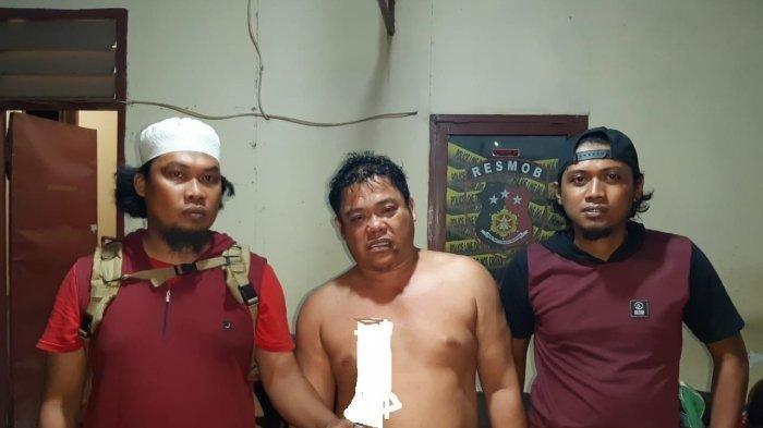 Jufri terduga pelaku penikaman terhadap Saharuddin (29) di Jl Sukamaju, Kecamatan Panakukkang, Makassar, diciduk Unit Resmob Polsek Panakukkang, Sabtu (2/11/2019) malam.