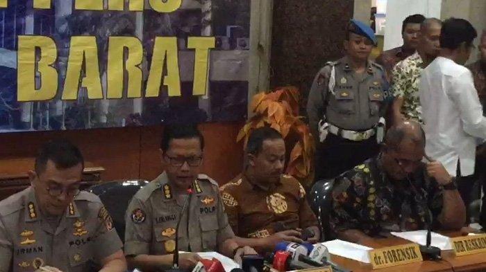 Konferensi pers hasil autopsi kematian Lina Jubaedah di markas Polrestabes Bandung, Jumat (21/1/2020).