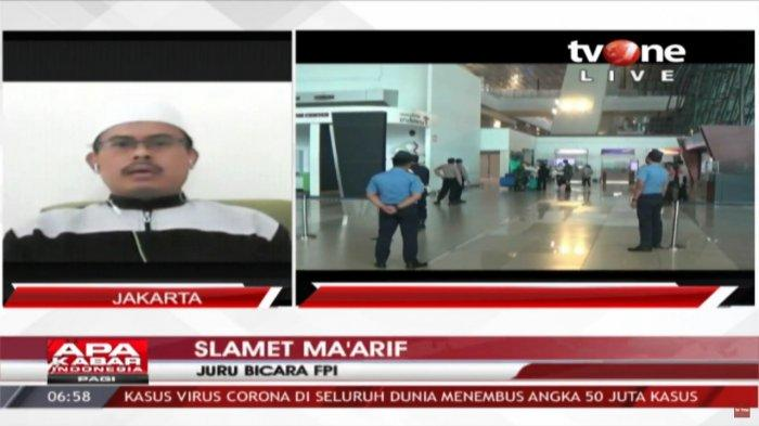 Juru bicara Front Pembela Islam (FPI), Slamet Ma'arif