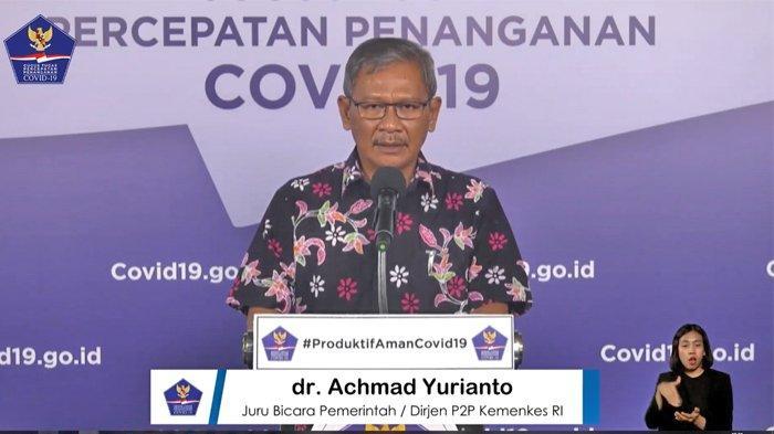 Juru Bicara (Jubir) Pemerintah untuk Penanganan Virus Corona (Covid-19), Achmad Yurianto, 5 Juli 2020.jpg