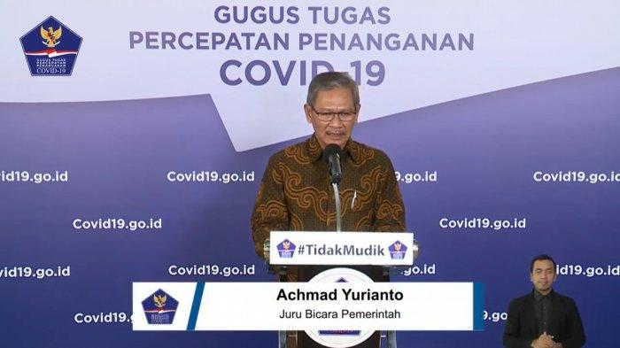 Juru Bicara (Jubir) Pemerintah untuk Penanganan Virus Corona (Covid-19), Achmad Yurianto (Tangkap layar channel YouTube BNPB)