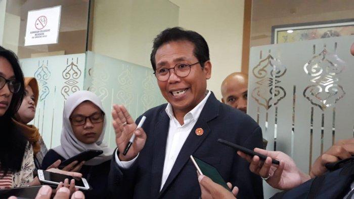 Juru Bicara Kepresidenan Fadjroel Rachman di Kompleks Istana Kepresidenan, Jakarta, Jumat (31/1/2020).