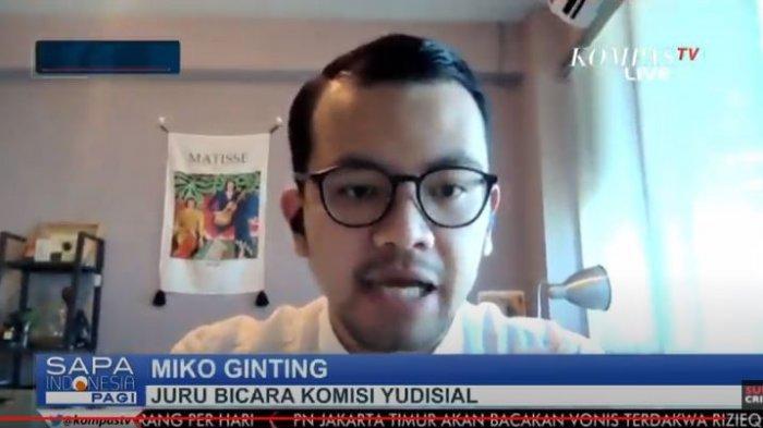 Juru Bicara Komisi Yudisial (KY) Miko Ginting dalam program Sapa Indonesia Pagi, Jumat (18/6/2021).
