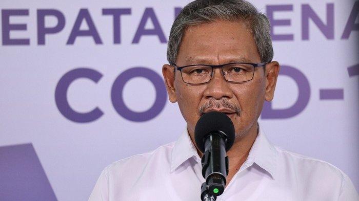 Juru Bicara Pemerintah untuk Covid-19 Achmad Yurianto dalam keterangan resmi di Media Center Gugus Tugas Percepatan Penanganan COVID-19, Graha Badan Nasional Penanggulangan Bencana (BNPB), Jakarta Timur, Rabu (15/7/2020).