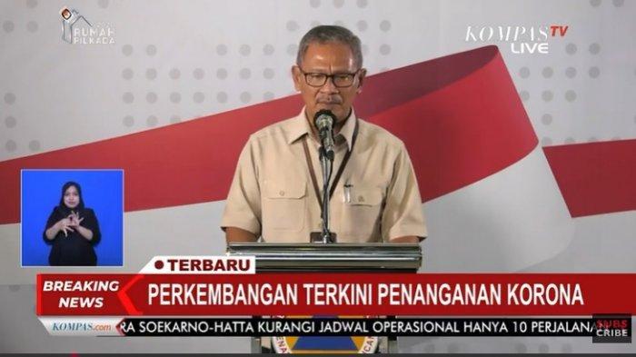 Juru Bicara Pemerintah untuk Penanganan Corona, Achmad Yurianto dalam jumpa pers, Senin (30/3/2020).