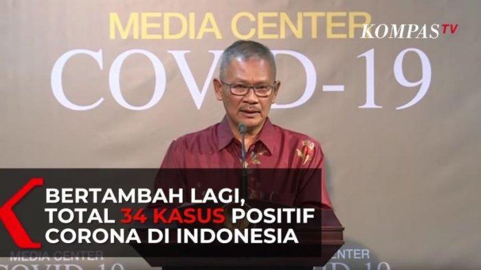 Juru Bicara Penanganan Virus Corona, Achmad Yurianto mengumumkan adanya penambahan kasus baru dari kasus positif Virus Corona di Indonesia, Rabu, 11 Maret 2020 sore.