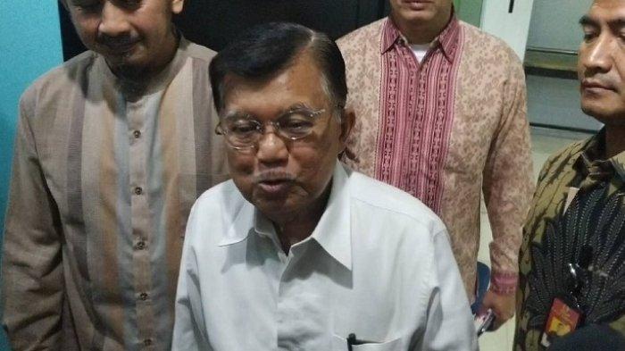 Jusuf Kalla di kantor pusat Majelis Ulama Indonesia (MUI), Jakarta Pusat, Selasa (17/3/2020).