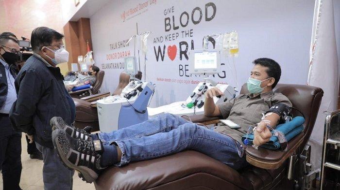 Datangi UDD PMI DKI Jakarta, Jusuf Kalla Semangati Pedonor Darah dan Plasma Konvalesen