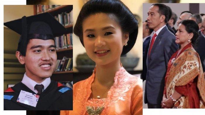Kaesang Pangarep, Felicia Tissue (calon istrinya) dan Presiden Jokowi bersama Iriana