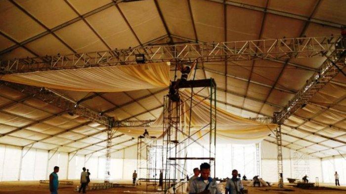 Begini Penampakan Tenda Besar untuk Acara