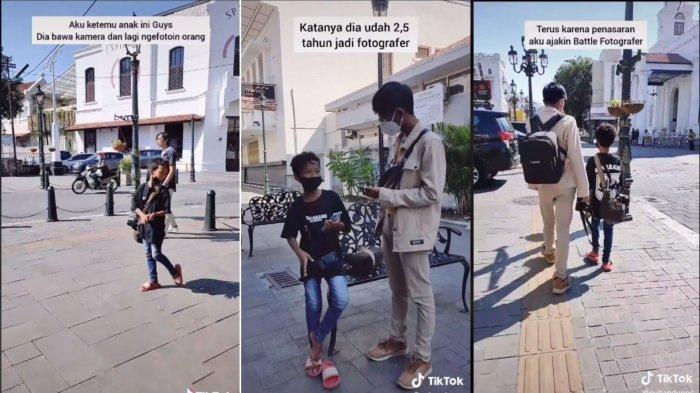 VIRAL Pria Ajak Bocah 13 Tahun Battle Foto di Kota Lama, Berawal dari Kagum Lalu Buat Konten Bersama