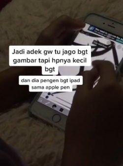 Viral kakak membelikan adik iPad (Tik Tok/tangcorruptedmind)