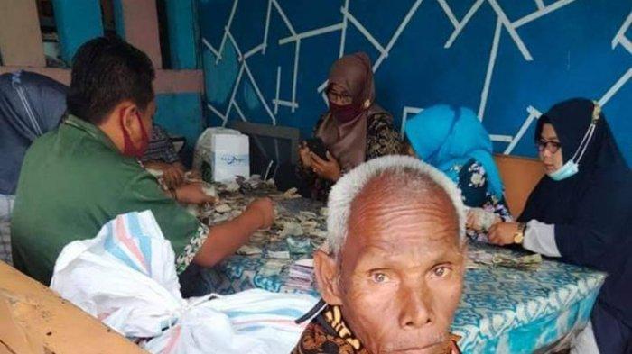 Jadi Tukang Cuci Piring Sejak 1990, Kakek Biok Kumpulkan Hampir Rp 200 Juta dalam 9 Karung Uang