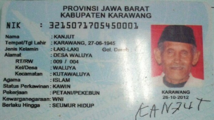 Cerita Kakek Kanjut Soal Makna Namanya Viral Ini Maknanya Dalam Bahasa Sunda Tribunnews Com Mobile