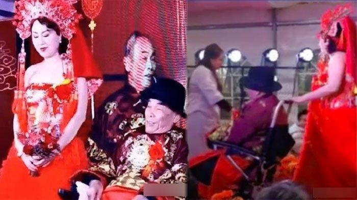Bujangan Berusia 80 Tahun di China Nikahi Janda Berusia 42 Tahun, Pengantin Pria Tak Kuat Berdiri