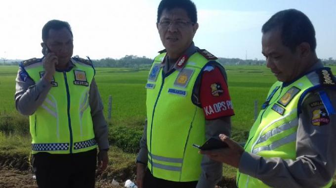 Kakorlantas Pantau Tol Fungsional Brebes-Semarang Sebelum Ditutup untuk Pemasangan Rambu Arus Balik