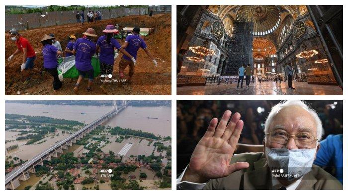 Kaleidoskop Internasional Juli 2020: Longsor di Pertambangan Myanmar, Hagia Sophia Dijadikan Masjid