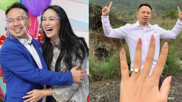 Kalina Ocktaranny pamerkan cincin pemberian Vicky Prasetyo. (Instagram/kalinaocktaranny)