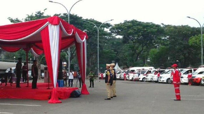 Jusuf Kalla Lepas Relawan PMI Angkutan Lebaran 2018