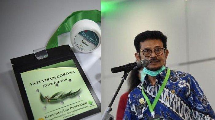Kalung antivirus Corona dan Menteri Pertanian Syahrul Yasin Limpo